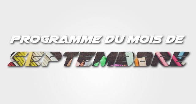 Programme septembre 2019